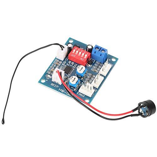 Controlador de velocidad Controlador de velocidad de ventilador de PC de temperatura precisa Regulador de velocidad ajustable de cuatro cables, para ventilador, para electricidad, para PC