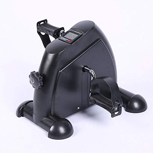 OUYA Bicicleta de Pedal de Ejercicio portátil para piernas y Brazos con Monitor Digital Equipo de Entrenamiento Interior Resistencia Ajustable