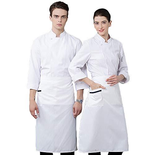 WYCDA kookjack wit zwart katoen keuken hotel kookkleding uniform werkkleding restaurant uniform