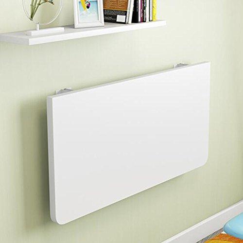 YUN-X Wand-Klapptisch Haus an der Wand befestigter Computertisch einfacher Schreibtisch kleine Wohnung (Farbe : Weiß, größe : 100 * 60cm)