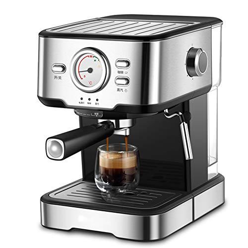 Cafetiere Expresso, Filtrer Mousseur à Lait pour Cappuccino Pression de 20 bars/1.5 L Amovible Réservoir D'eau/1050 watts/pour le domicile/bureau