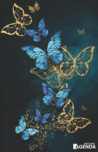 Agenda 2021 2022: Organiseur Scolaire (Août 2021 / Juillet 2022) Pour Étudiants Collège, Lycée – Planificateur Journalier 1 Jour Par Page | Couverture Papillons