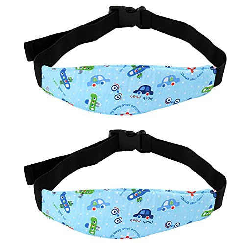 Teegxddy 2 Pezzi Cinturino Supporto Testa Bambini,Cinturino Testa Auto Bambini,Bambino Cinturino Regolabile Auto Sicurezza Dormire Cintura di Sicurezza per Seggiolino Auto