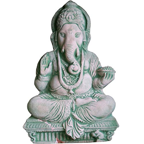 JPVGIA Decoración de Estatua de Buda tailandés Arena Tallada decoración de Piedra Artesanía Elefante Afortunado Dios de la Riqueza