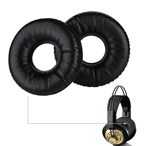 Oorkussens, zwarte katoenen vervangende HD-koptelefoon Oorkussens Kussen voor AKG K121 K121S K141 MK II K142, Verbeter de basprestaties, Een vervanging, Eenvoudig te installeren