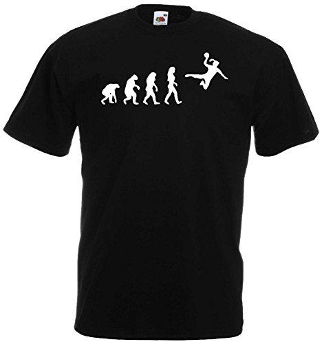 Handball Damen Evolution T-Shirt WM Shirt EM Trikotschwarz-XL
