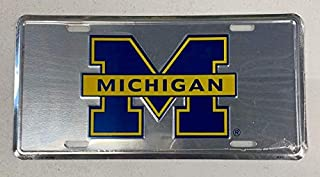 HangTime Michigan Wolverines NCAA College License Plate Tag 6 x 12