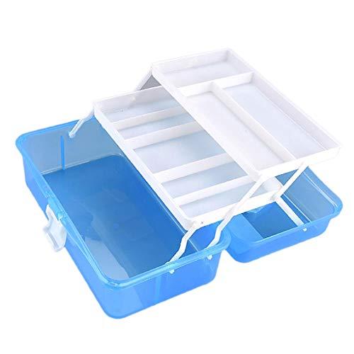 Hellery 12 Zoll Durchsichtiger Tragekoffer Aufbewahrungsbehälter Für Kunst / Bastelbedarf Werkzeugkästen
