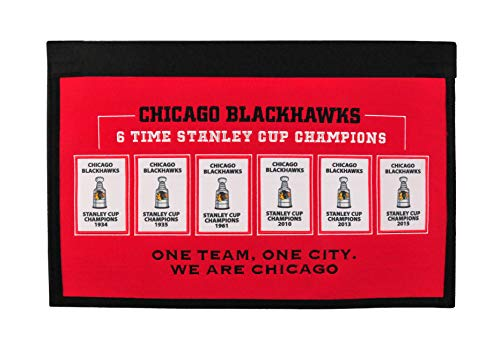 Winning Streak Sports NHL Chicago Blackhawks Rafter Raiser Banner - Wall Decor for Sports Fans