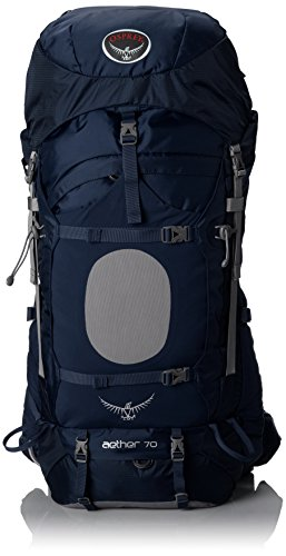 Osprey Men's Aether 70 Backpack, Midnight Blue, Large