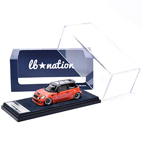 ENGUP MODELS 1/43 リバティーウォーク ミニ・クーパー LB-WORKS lb★nation MINI Cooper ソラリス オレンジ (日本仕様/右H) 完成品 世界限定200台 樹脂製モデル