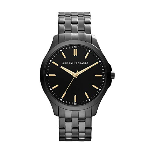 Armani Exchange Herren Analog Quarz Uhr mit Edelstahl Armband AX2144