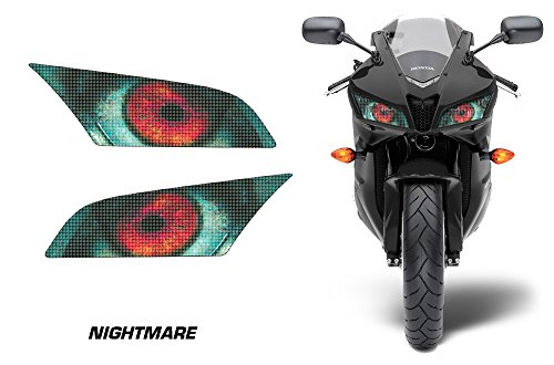 AMR Racing Sport Bike Headlight Eye Graphics Decal Cover Compatible with Honda CBR 600RR 2009-2012 - Nightmare