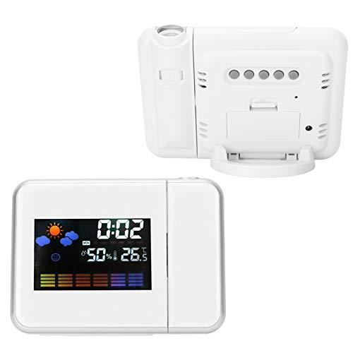 Zwinner Estación meteorológica, Reloj de monitoreo del Clima, batería incorporada para el hogar para la Oficina para Interiores para Laboratorio(White, Pisa Leaning Tower Type)