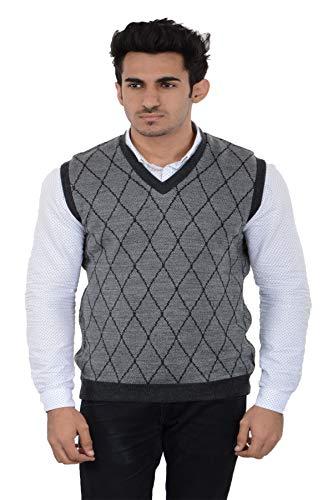 aarbee Men's Wool V-Neck Reversible Sweater
