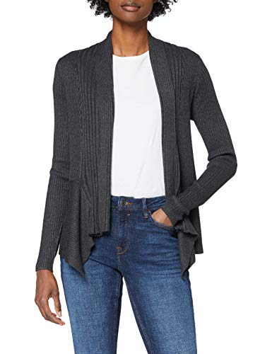 ESPRIT Damen 998EE1I803 Strickjacke, Grau (Dark Grey 024), M