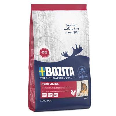 Bozita Original A ausgewogenes, komplettes Trockenfutter für Hunde aus Schweden mit viel frischem Huhn und angereichert mit natürlichen Ernährungsfasern, Vorteilspackung: 2 x 12 kg