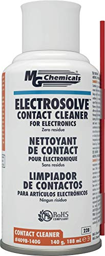 MG Chemicals 409B Electrosolve Zero Residue Contact Cleaner, 140g (5 oz) Aerosol Can