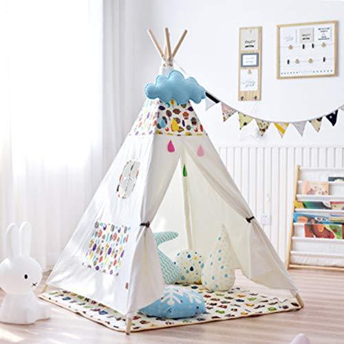 Tienda Tipi para Niños, Plegable, para Niños, Tienda De Campaña, Postes De Lona, Juguete para Juegos De Interior Y Exterior (Kitten Eagle)