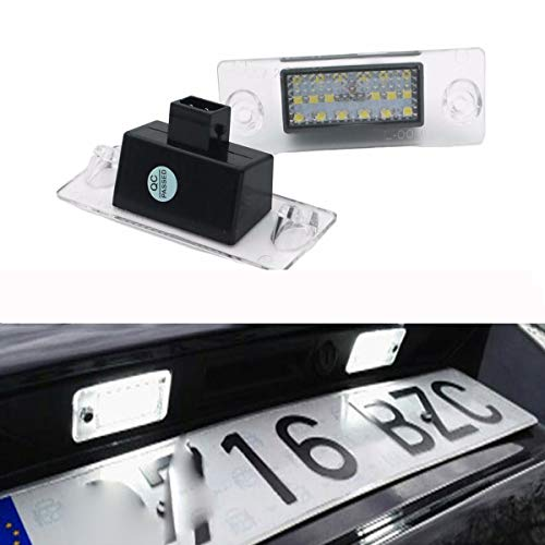 GOFORJUMP 2PCS Voiture LED Plaque d'immatriculation lumières 12V SMD3528 Lampe de Plaque d'immatriculation pour A/UDI A4 B5 S5 B5 A3 S3 Sportback A4 S4 Avant