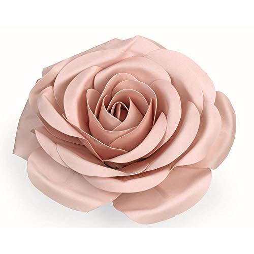 Rose Da 50 cm de Couleur Rose en Polyéthylène Équipement Romantique