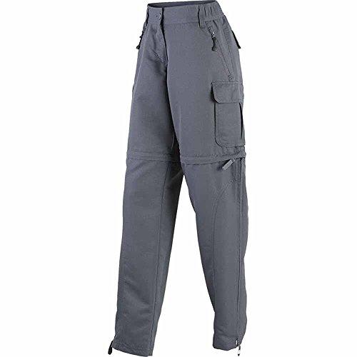 James & Nicholson–Pantaloni trekking escursionismo tranformable in pantaloncini–2in 1–Donna–jn1029, Grigio carbonio