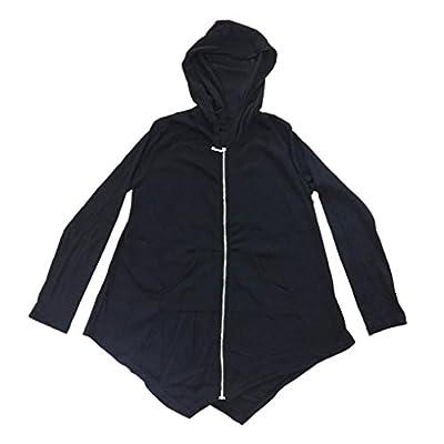 Pocciol Women Plus Size Lightweight Full Zip Up Hooded Sweatshirt Cape Style
