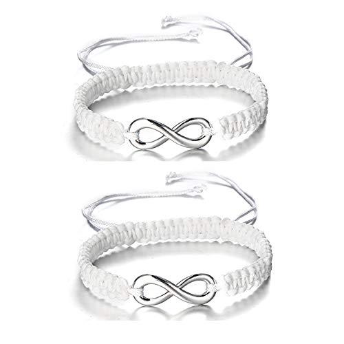 DSNSNSSL Handgevlochten Touwtje Armband Oneindigheid Handgemaakte Macrame Paar Braclet Voor Vrouwen Mannelijke Liefhebbers Vriendschap Gift