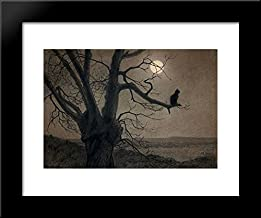 Cat in The Moonlight 20x24 Framed Art Print by Theophile Steinlen