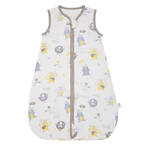 WangsCanis Toddler - Saco de dormir para bebé - Saco de dormir para bebé - Saco de dormir de verano - Cremalleras lisas ajustables - Unisex - Finas finas - Ropa ligera Mostrar Small