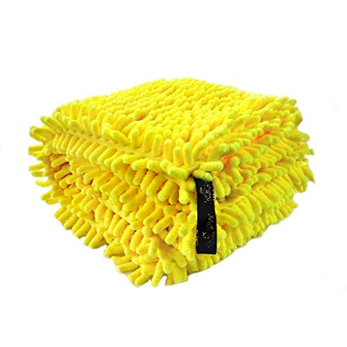 Feng-towel Dick Double Layer Katze Handtuch, Golden Retriever Schnauzer Bulldog faltbares Hunde Bademantel - Schlafzimmer Parlor Absorbent Reinigungstuch (Color : Yellow, Size : 65 * 36cm)