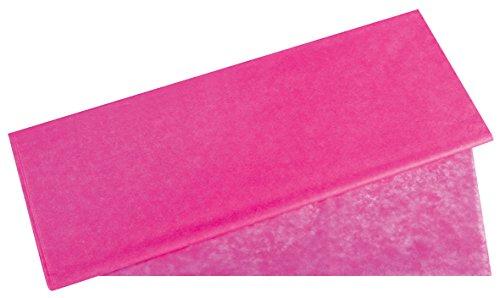 Rayher 67270264 Seidenpapier, pink, 50x75cm, 5 Bogen, 17g/m², lichtecht, farbfest, leicht transparentes, dünnes Papier, Geschenkpapier, Papier zum Basteln