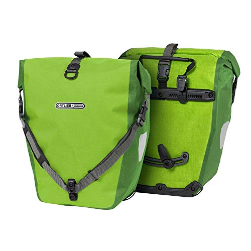Ortlieb Unisex Erwachsene Fahrradtasche Back Roller Plus Ql2.1 Radtaschen Travel, limone-moosGrün 2x 20 l.,Einheitsgröße EU