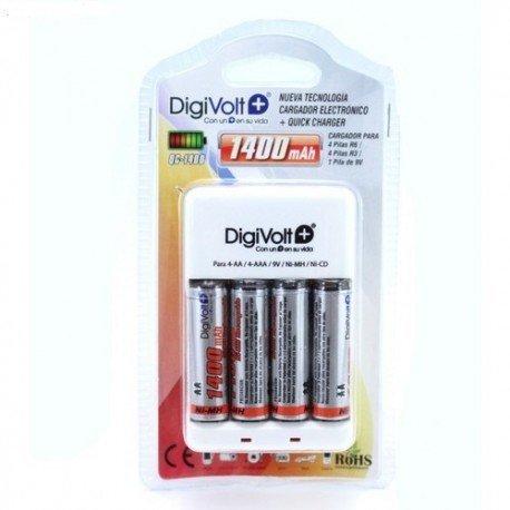 Digivolt - Cargador con 4 r6 1400 ma qc-1400