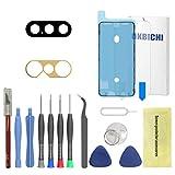 OKBICHI Lente de cámara trasera de repuesto para iPhone Xs y iPhone Xs Max - Herramientas de reparación con protector de pantalla