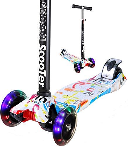 EEDAN Scooter for Kids 3 Wheel T-bar Adjustable Height handle Kick Scooters PU Flashing Wheels Wide...