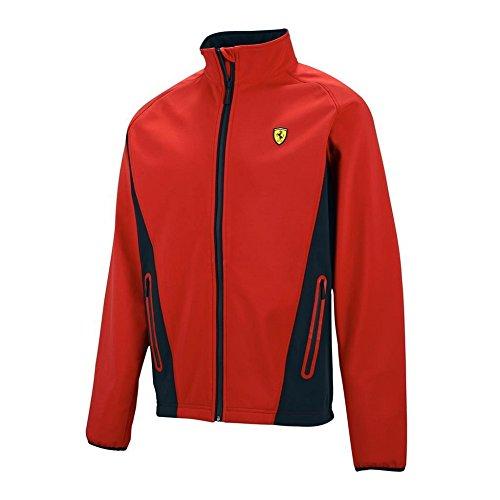 Ferrari - Giacca da uomo Softshell, rosso (XL)