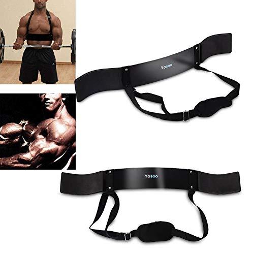 Ejoyous Fitness Arm Curl Blaster zum Gewichtheben Bizeps Blaster und Bizeps Curl Unterstützung für Bodybuilding Fire Team Stärker Langhantel Hantel Workouts