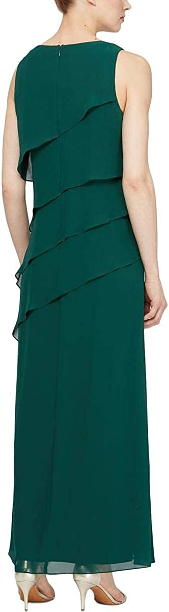 S.L. Fashions Women's Jewel-Strap Tiered Cocktail Dress (Petite and Regular)