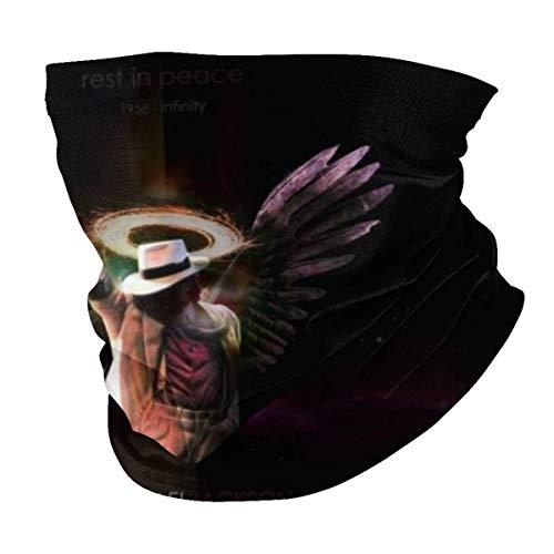 AmyNovelty 12-In 1 Headbands,Mich-Ael Jack-Son Magic Scarf, Elegantes Pasamontañas De Cuello para Motociclismo Y Esquí,25x50cm