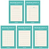 Monolike Boldline Sticky-It - 5p Set Self-Adhesive Memo Pad 30 Sheets