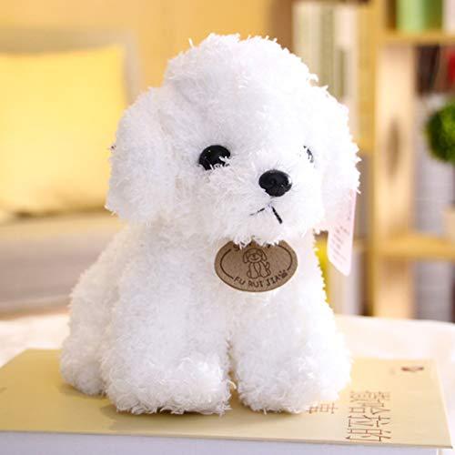 HitHopKing Plush Figure Toys — Cute Plush Doll Stuffed Animal Plushies Toys, Plush Dog Toy , Pillow Plush Toy , Plush Realistic Corgi Stuffed Animal for Boys and Girls (White, 25cm/10 inch)