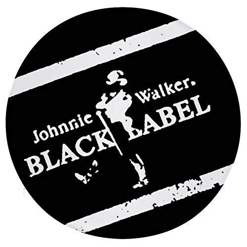 Cojín Cojín de Asiento de Espuma viscoelástica Redondo Johnnie Walker Black Label Cojín súper Acogedor Cojín Suave para Interior
