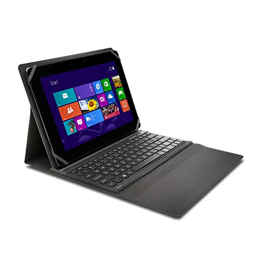 Kensington KeyFolio Fit universelles 25,4 cm (10 Zoll) Tablet-Hülle für Windows deutsche Tastatur schwarz