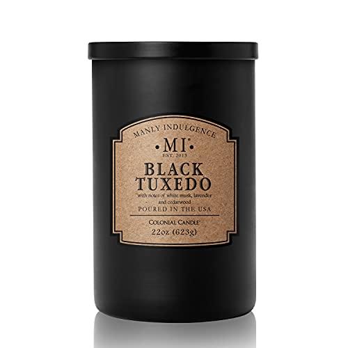 Manly Indulgence Black Tuxedo Scented Jar Candle, Large