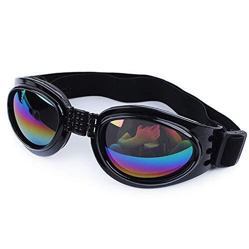 Cestlafit Haustier-Hundeschutzbrillen UV, winddichter Schutz Hündchen-Welpen-Sonnenbrille, Hundebrille für großen Hund, Schwarzes, 9,8 x 9 x 7 cm