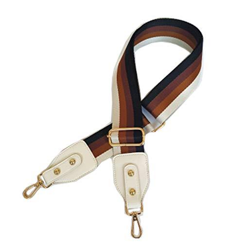 Beacone Breiter Ersatz-Gurt für Handtaschen, verstellbarer Crossbody-Gurt, Weiá (weiß), Einheitsgröße