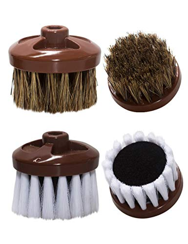The King's Shoes Electric Shoe Polisher Replacement Brush Set, 2pcs (Brown)