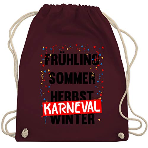 Shirtracer Karneval & Fasching - Frühling, Sommer, Herbst, Karneval, Winter - Karneval Kostüm - Unisize - Bordeauxrot - karneval turnbeutel - WM110 - Turnbeutel und Stoffbeutel aus Baumwolle