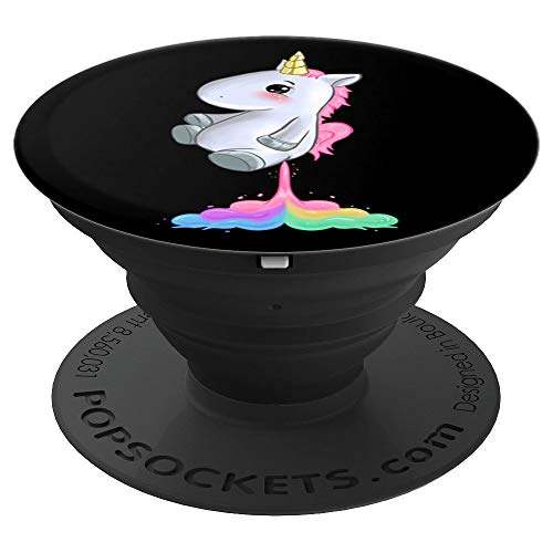 Rainbow Farting Unicorn Accessories Gift Women Girls Kids PopSockets Grip and Stand for Phones and Tablets
